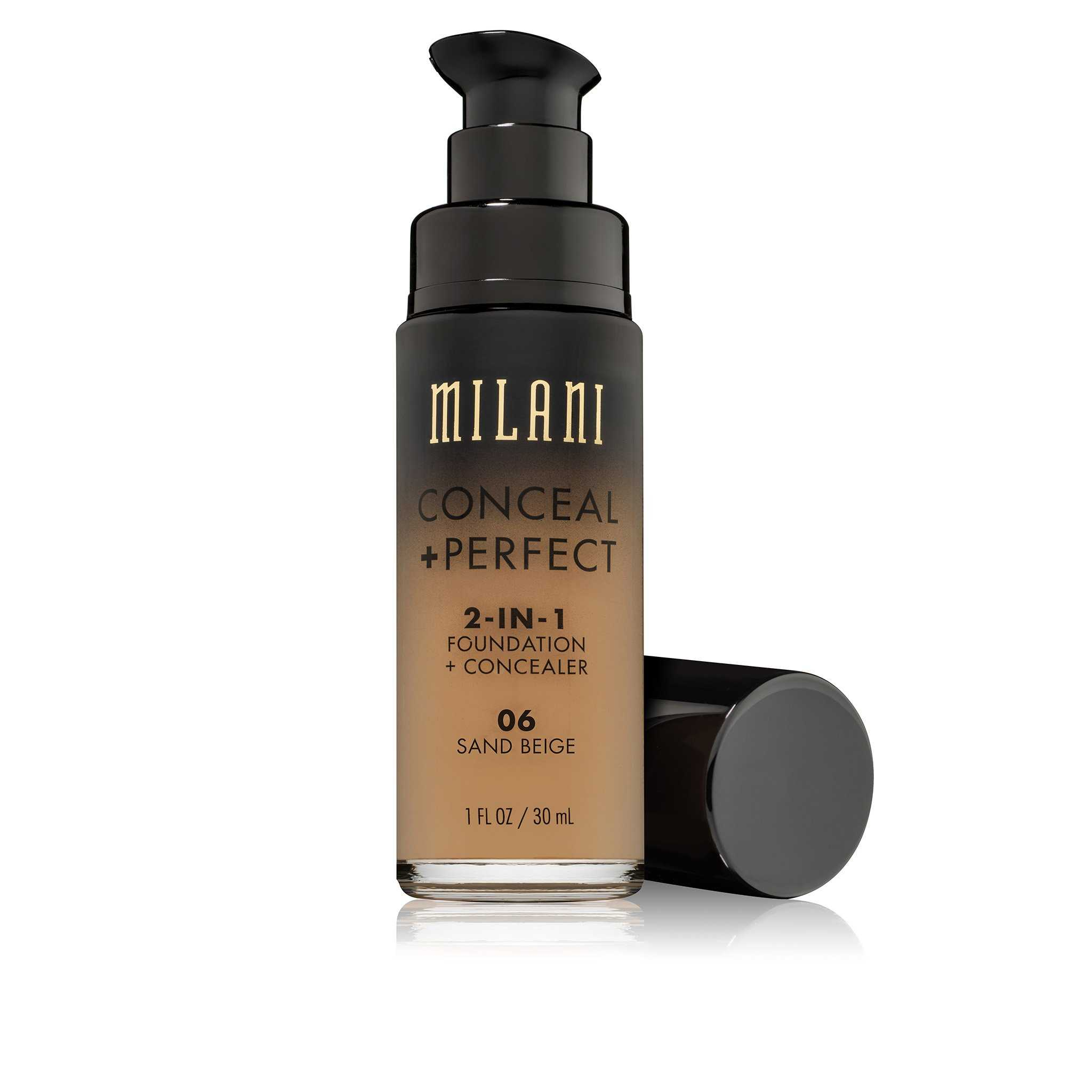 Milani - Conceal & Perfect 2-IN-1 Liquid Make up - 06 Sand Beige Medium with Warm Yellow Undertone