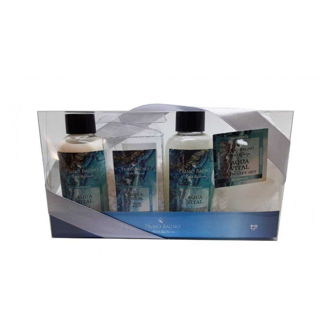 Primo Bagno - Bath Mini Gift Set Αqual Vital (4τμχ)