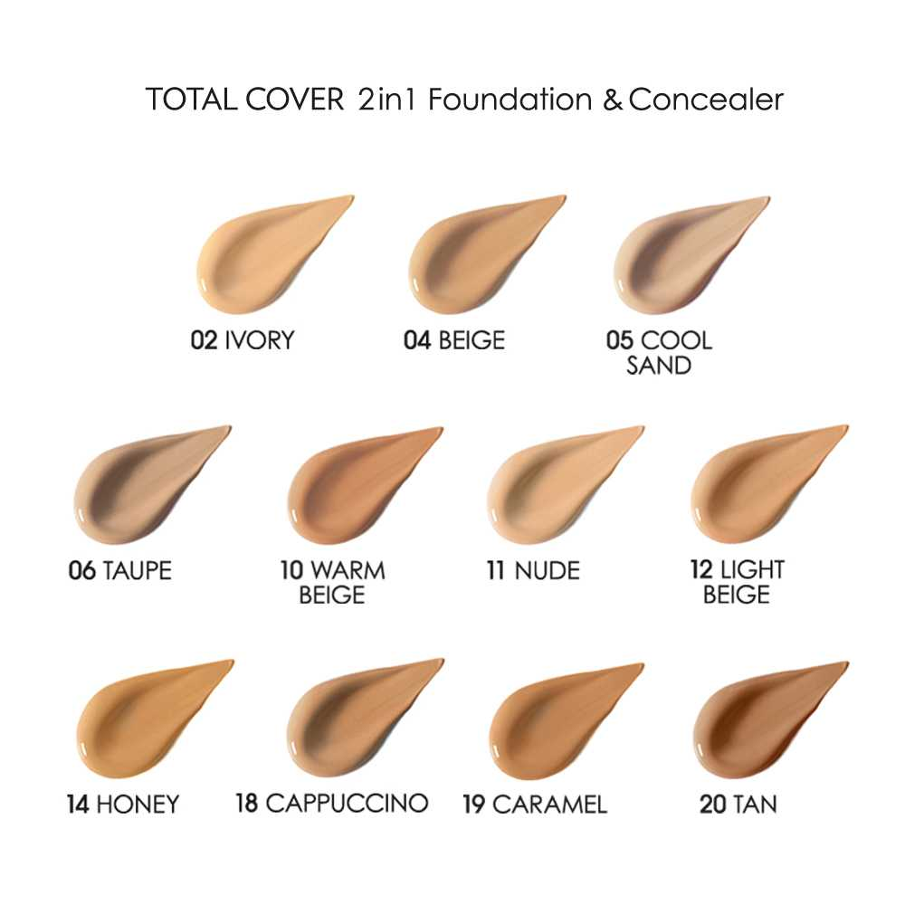 Coco Make It Yours TOTAL COVER 2 in 1  SPF15  05. COOL SAND. Golden Rose
